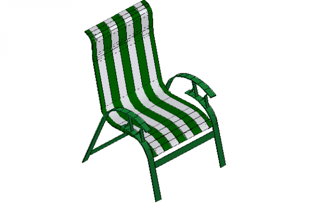 Patio chair 3d file elevation