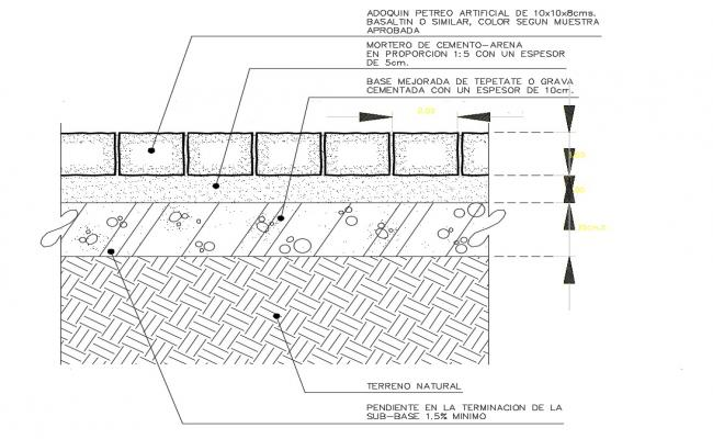 Paving Designs CAD Drawing