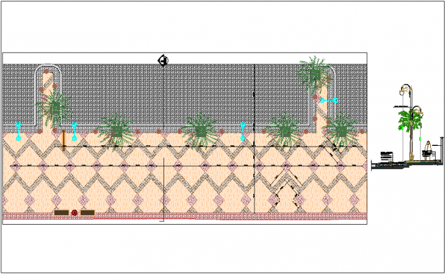 Paving design construction detail dwg file
