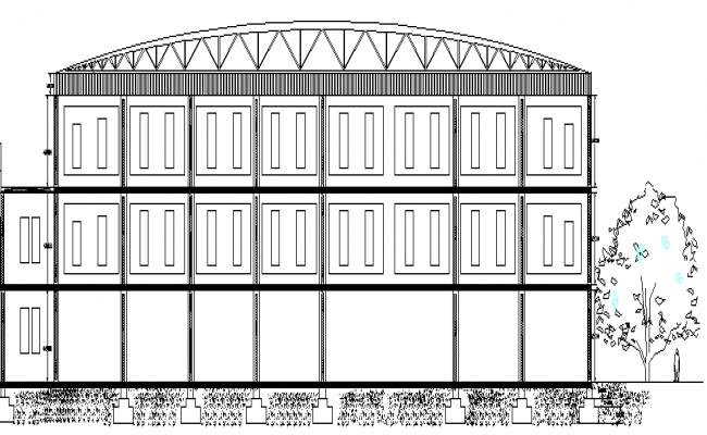 Pediatric Hospital Three story Design Study dwg file