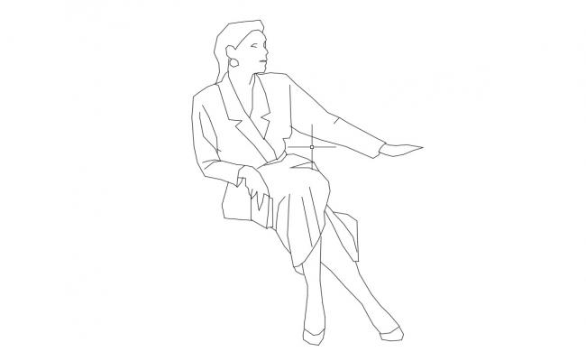 People Sitting Cad Block Free Download