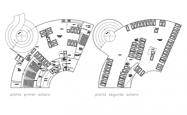 Performing arts center layout in dwg file
