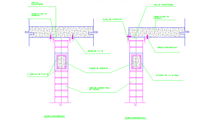 Perimeter & Intermediate Wall section design