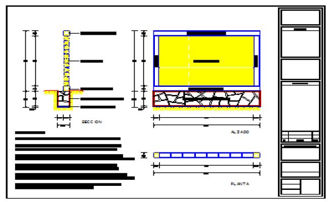 Perimeter wall design drawing