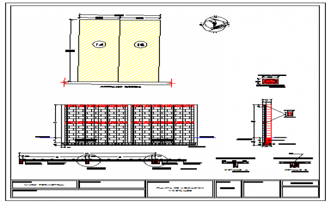 Perimeter wall detail drawing