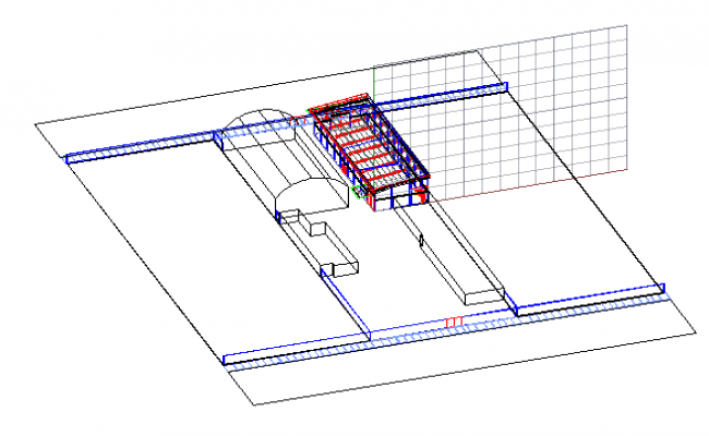 Perspective armed details dwg file