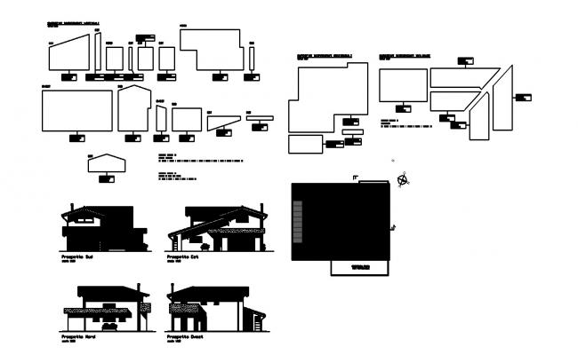 Modern House In  AutoCAD File