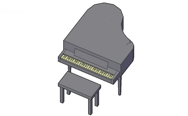 Piano Table 3d model Furniture AutoCAD blocks