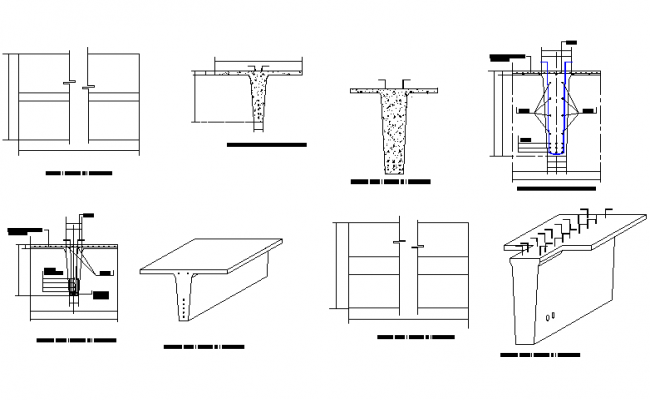 Pile plan and section detail dwg file