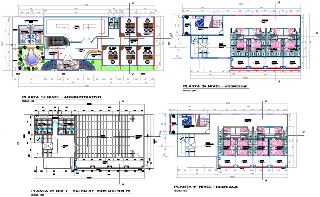 Piles and footings plan detail dwg file