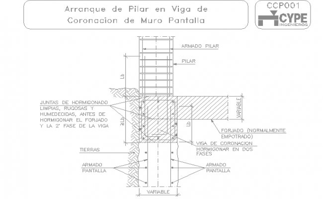 Pillar structure design in cad file