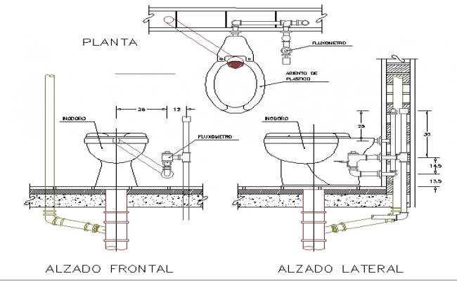toilet detail working drawing pdf