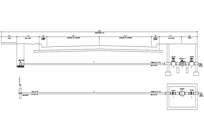 Pipe line section layout file