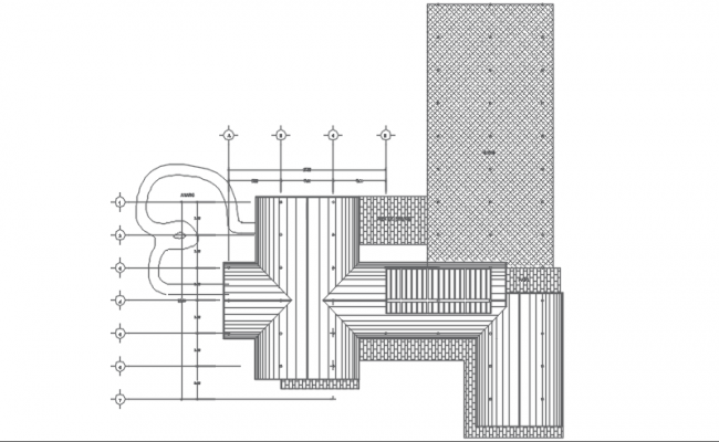 Pipe section detail dwg file