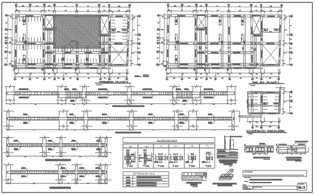 Plan and Beam section plan detail dwg file