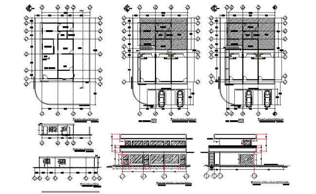 Plan and elevation center line plan detail dwg file
