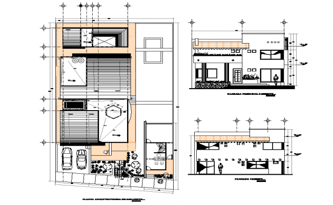 Plan and elevation house layout file