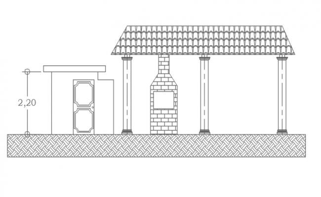 Plan column front elevation detail dwg file