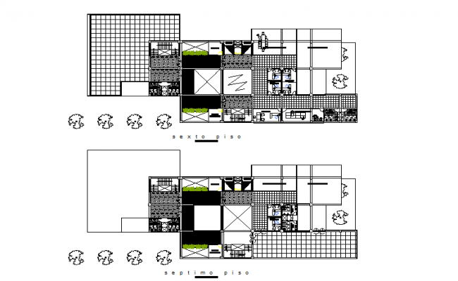 Plan commercial detail dwg file