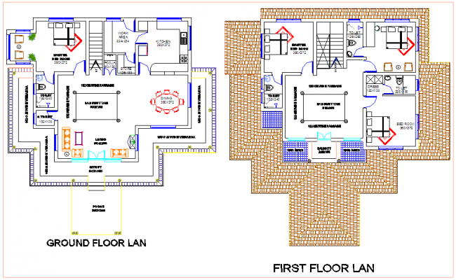 Plan design for residential view