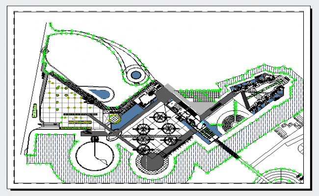 Plan design of hotel