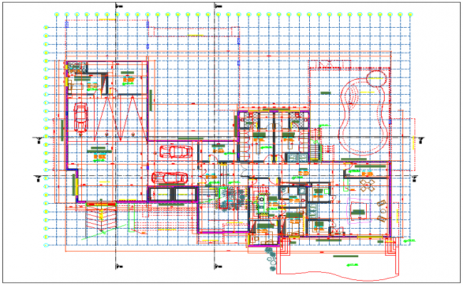 Plan design of house