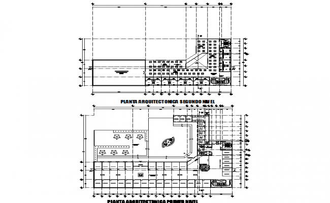 Plan detail with construction layout
