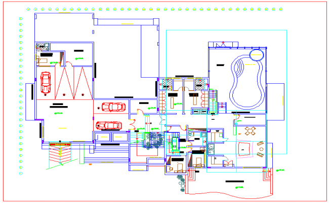 Plan drawing of house