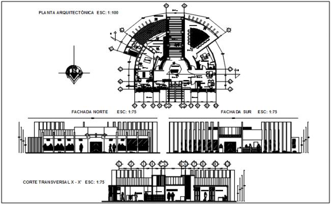 Plan elevation detail dwg file