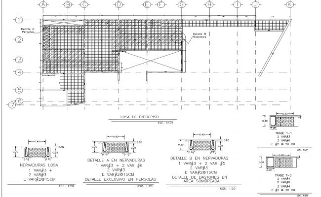 Plan for one housing split level plan dwg detail.,