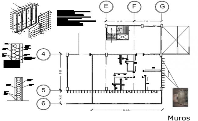 Plan house detail dwg file