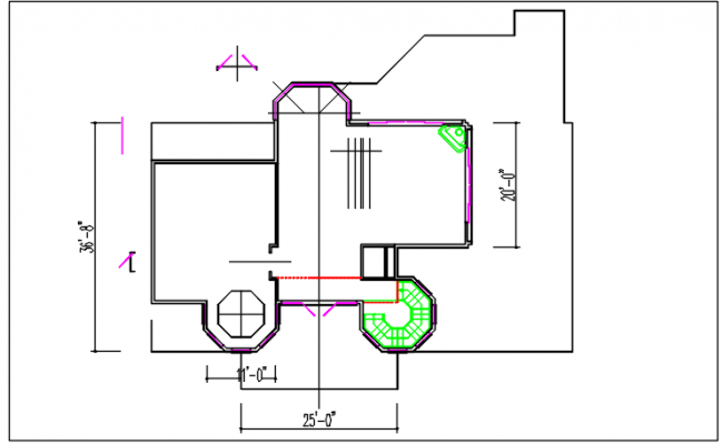 Plan layout detail dwg file
