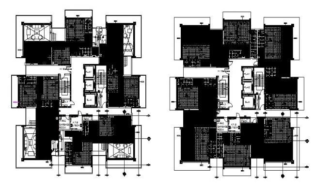 House Floor Design In DWG File