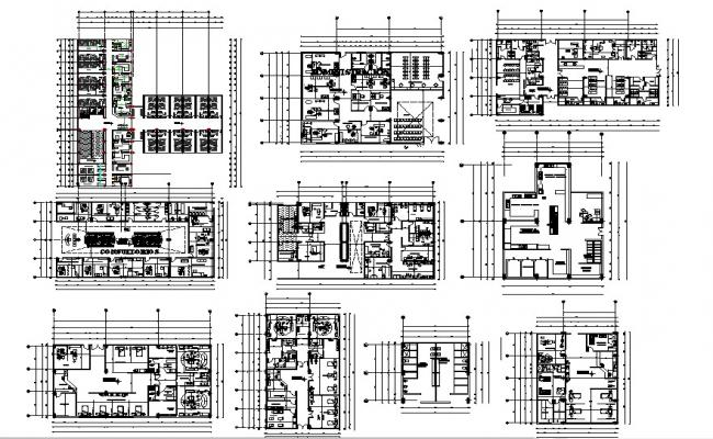 Clinic design plan in AutoCAD