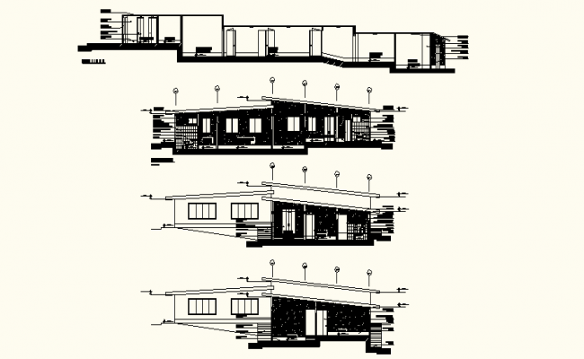 Hospital Plan Section In autoCAD Drawings