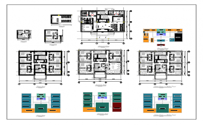 Plan of Hotel dwg file