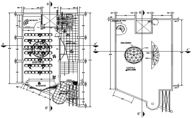 Institute Floor Layout Plan CAD file