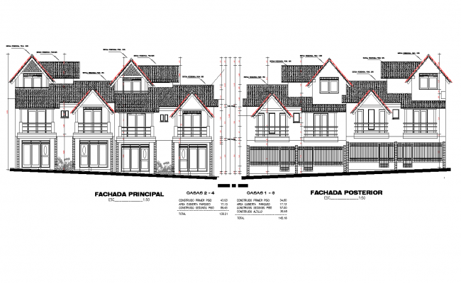 Plan of Multi-family loft plan detail dwg file.