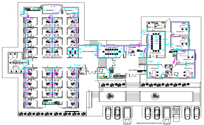 Plan of Outlets available in Offices