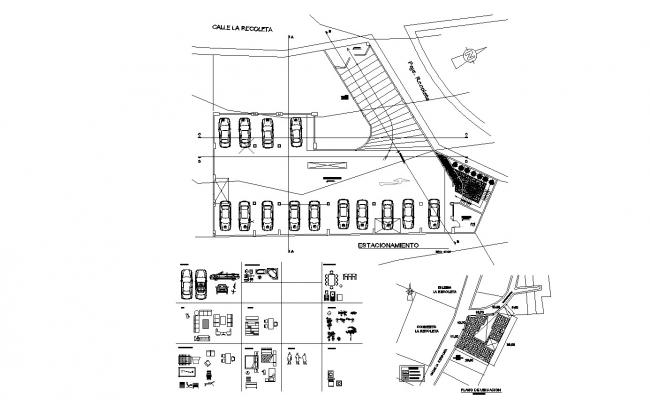 Parking  Plan In DWG File
