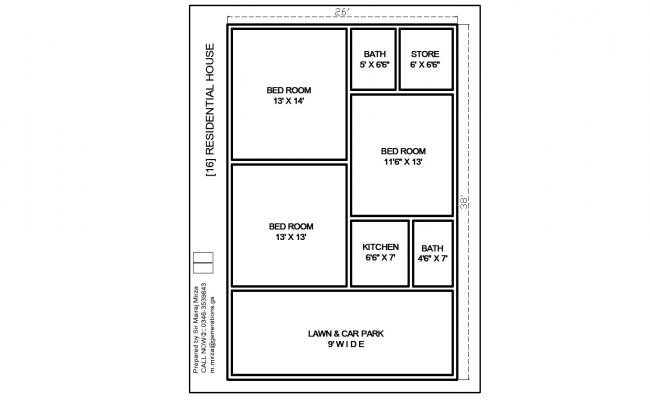 Tiny Home Plans In AutoCAD File