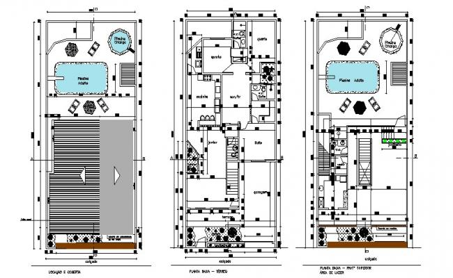 Residential House Layout Plan In DWG File