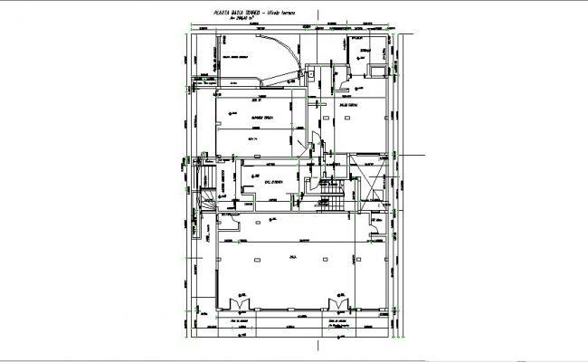 Condo Floor Plan In AutoCAD File