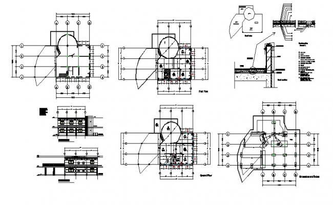 Plan of Villa 18mtr x 15mtr with a detail of excavation and footing in AutoCAD