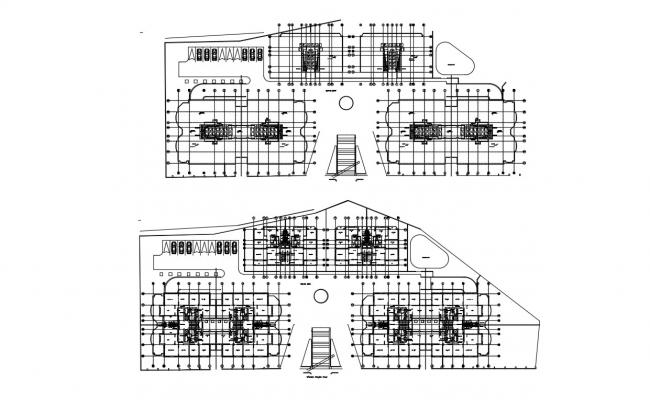 Plan of a Commercial Building CAD drawing