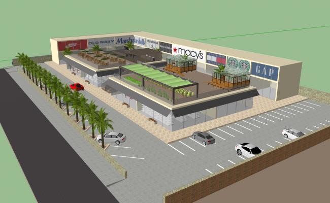 Plan of a Modern Market Area