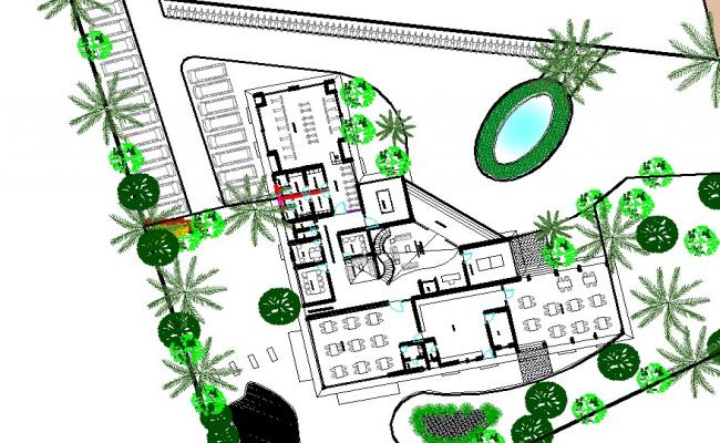 Commercial Building Floor Plan In AutoCAD