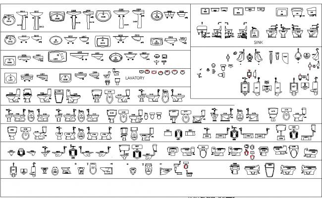 Plan of bathroom equipment detail dwg file.