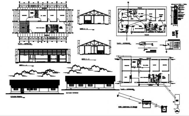Building Plan Design In AutoCAD File