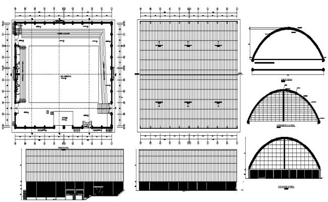 Building hall design in DWG file